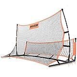 Morimoe Soccer Rebounder Net,Dual Side,Improve Multi Skills,Carry Bag