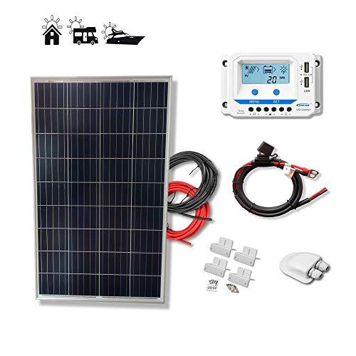 Kit placa solar 100W Eco 12V