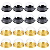 Cabilock 200 Piezas de Reutilizable Plástico Transparente Mini Caja de Pastel Galletas Muffins Caja de Domo Muffin Pod Domo Muffin Caja de Un...