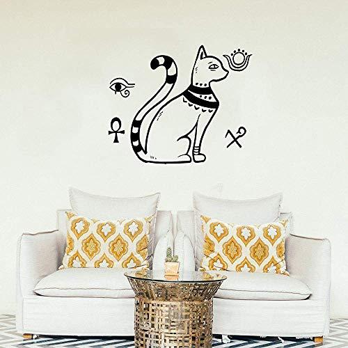Wandtattoo Stil Mit Nationalflagge Home Decor Wohnzimmer Katzengott Wandkunst Aufkleber Schlafzimmer Büro Aufkleber50X42 Cm