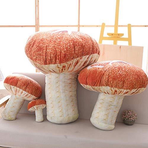 WAQIA HOUSE 1 Pack Novelty Mushroom Shape Plush Pillow 3D Simulation Mushroom Throw Pillow Stuffed...