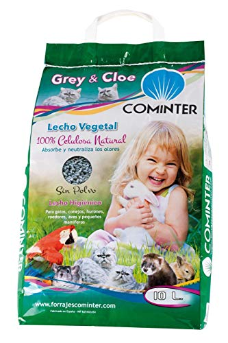 Cominter Animal Health Lecho Vegetal Papel Grey & Cloe 10L 4000 g
