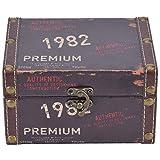 Cofre del Tesoro Caja de Madera Caja de exhibición de Almacenamiento de Madera Vintage Libro Joyería Almacenamiento Caja de Almacenamiento Organizador Cofre del Tesoro Decoración del hogar(1)