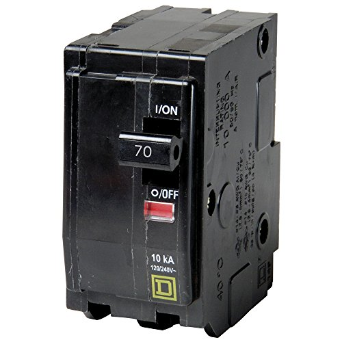 SQUARE D BY SCHNEIDER ELECTRIC QO270 CIRCUIT BREAKER, THERMAL MAGNETIC, 2P, 70A