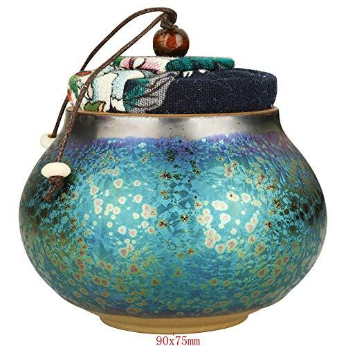 Teedose aus Porzellan mit luftdichtem Deckel für Kaffee, Zucker, Tee, Gewürze und mehr