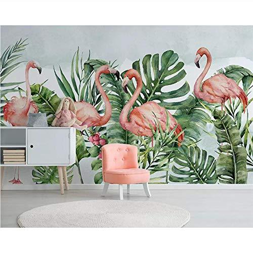 Pmhc Maak elke mogelijke grootte foto Moderne onbelangrijke kleine rode vogel TV achtergrond wanddecoratie de frisse bloem bedrijf bijzonder aan 350 x 250 cm.