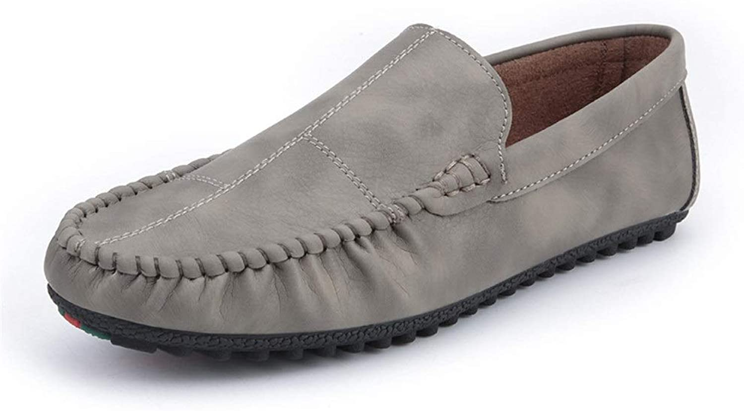 SRY-Fashion shoes Men's Casual shoes Leisure Drive Loafers for Men Round Toe Oxfords Casual Walking Level Penny shoes PU Stitch Breathable Lightweight