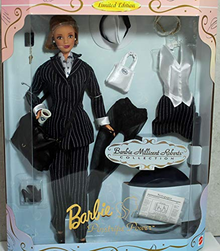 Barbie Millicent Roberts Pinstripe Power Doll & Extra Fashion Limited Edition (1997)