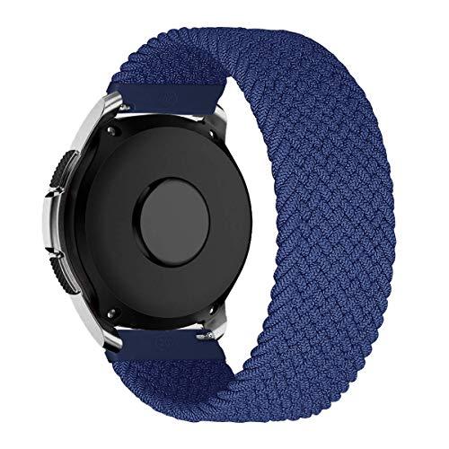 MroTech Compatible con Huawei Watch GT 2 46 mm/GT 2e/GT2 Pro Correa Nailon 22mm Pulseras Repuesto para Samsung Galaxy Watch 3 45mm/Gear S3 Frontier/Galaxy 46mm Banda Nylon Woven Loop Deportiva