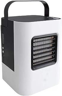 Luftkylare Mini USB Personlig luftkonditionering Liten kylfuktare med bärbart handtag, 3 hastigheter och LED-ljus för kont...
