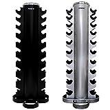 POWRX Kurzhantel Rack Professional Hantelständer rund/Hantelablage / 20 Ablagen/Spitzen Qualität...