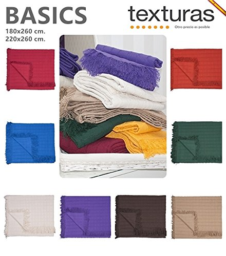 Texturas Basics - Mehrzweck-Tagesdecke, glattes Bett