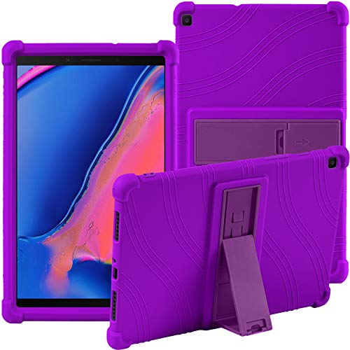 Samsung Galaxy Tab A 8.0' 2019 SM-T290 SM-T295 Case,ATOOZ PC Bracket Tablet Silicone Case,Anti-drop For Samsung Galaxy Tab A8 Cover (Purple)