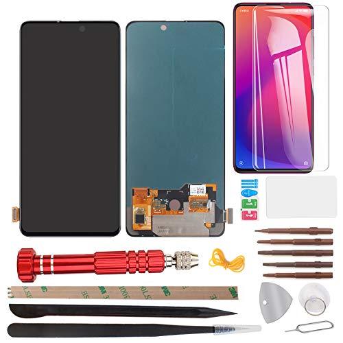 """YHX-OU 6.39"""" para Xiaomi Mi 9T Mi 9T Pro Redmi K20 Pro pantalla táctil de repuesto con herramientas + protector + cámara trasera cristal templado (negro)"""