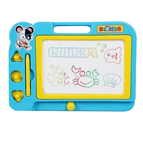 XuZeLii Caballete para Niños Doodle Colorido Dibujo borrable portátil Bloc de Notas Junta Sketching Garabato niños pequeños de Mesa Regalos Adecuados para Niños (Color : Azul, Size : 27x20cm)