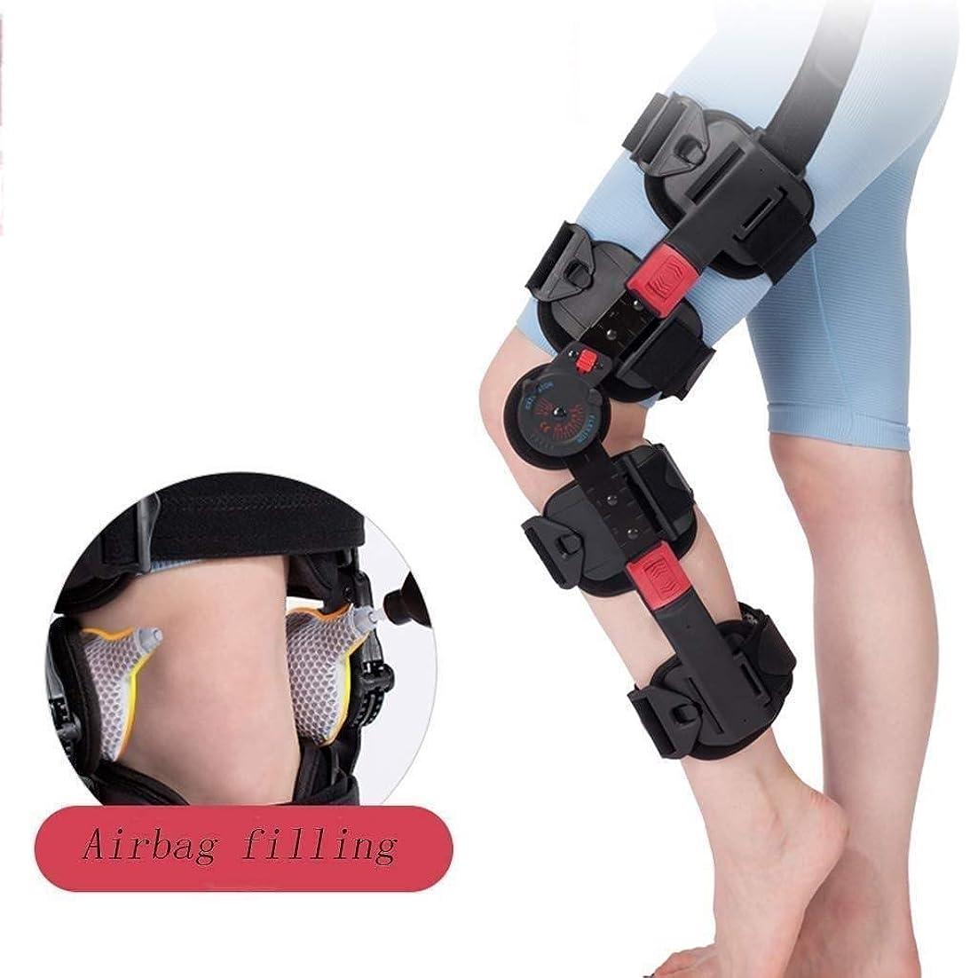 しおれた松の木ネットヒンジ式ROM膝ブレース、調節可能なポストOP膝蓋骨ブレースサポートスタビライザーパッド装具スプリントラップ医療用整形外科用ガードプロテクター