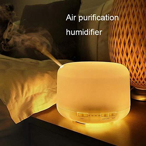 Aromatherapiegerät Ultraschall Haushaltsdämpfer Luftreiniger Luftbefeuchter, 7 Bunte Lichter, Anti-Trockenbrennen, Stummschaltung, Feinzerstäubung, 3 Timing, Automatische Abschaltung Bei Wassermangel