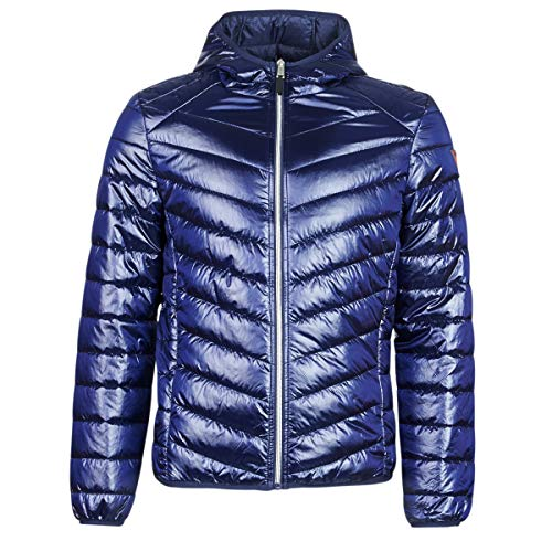Guess Hooded Superlight PU Chaqueta bomber, Azul Blue Navy G720, Large para Hombre