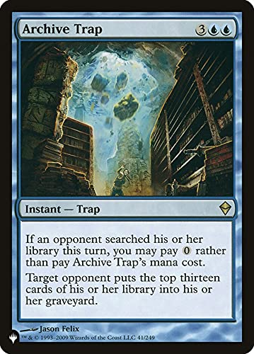 Magic: the Gathering - Archive Trap - The List