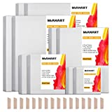 MIAHART Pre Stretched Canvas for Painting 5 Assorted Size White Artist Blank Canvas for Painting Acrylic Pouring Oil Paint & Artist Media (10)