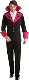 Virile Vampire Men's Halloween Costume Royal Gothic Count Dracula Black Outfit