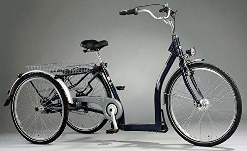 PFAU-TEC Dreirad Elegance 26/24, dunkelblau, 7-Gang SRAM S7 RBN, Rahmenhöhe 45 cm