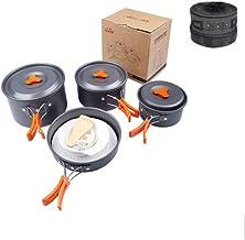 MSWL Outdoor Cookware Set, Picnic Supplies, Non-stick Pan Set, Portable Outdoor Cookware, Soup Pot, Kettle, Pot (Color : S...