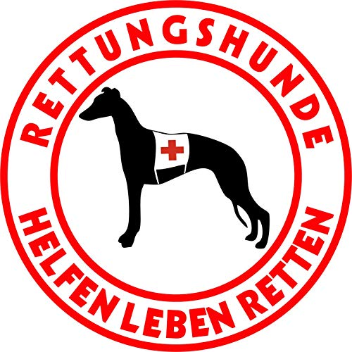 Holashirts Mallorca Whippet Silken Winsprite Windhund Rettungshund Auto-Folien-Aufkleber Hundeaufkleber Sticker (Ø200 mm)