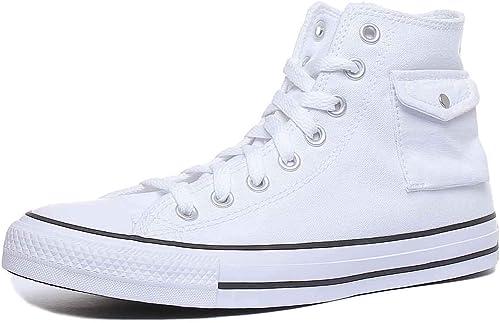 Converse Chuck Taylor all Star Pocket - Hi - Bianco/Nero/Bianco Canvas