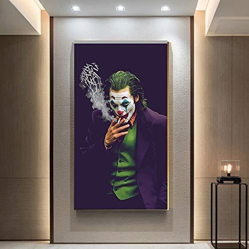 tzxdbh De Joker muurkunst canvas schilderij wanddrukken afbeeldingen Chaplin film Joker voor wooncultuur 20X35 cm unframed 1
