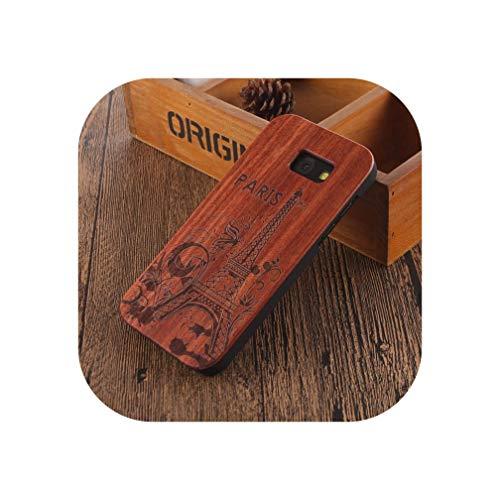 Carcasa de madera de bambú para Samsung Galaxy A5 2017 Sam-sung Galaxy A5 2017, diseño de calavera de mandala