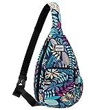 HAWEE Water Resistant Sling Bag for Women Multifunction One Shoulder Backpack, Maple Blue