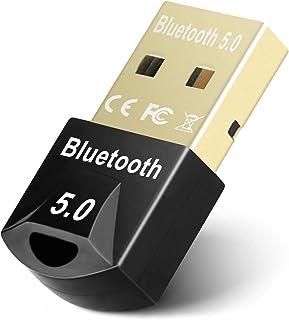 JSTH Bluetooth 5.0 USB-dongel-adapter, Bluetooth-mottagare för hörlurar, mus, tangentbord, TV, bil, högtalare, USB Bluetoo...