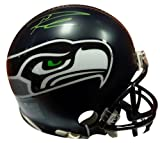 Authentic Autographed Russell Wilson Seattle Seahawks Replica Mini Helmet In Green RW ~ NFL Football Helmets