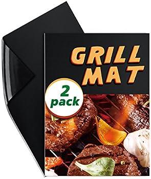 2-Pack Elegear Non-Stick ReusableBBQ Grill Mat Set