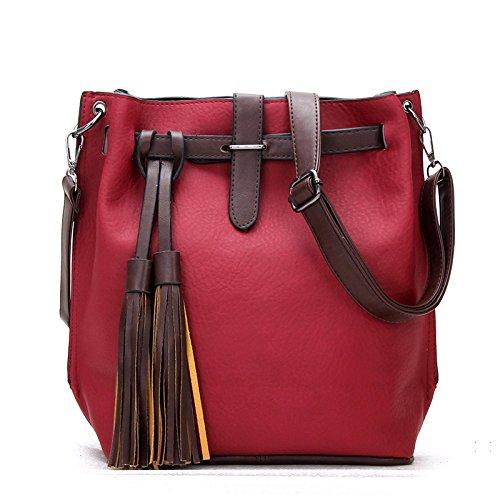 Koson-Man, Borsa tote donna, Red (rosso) - KMUKHB129-03