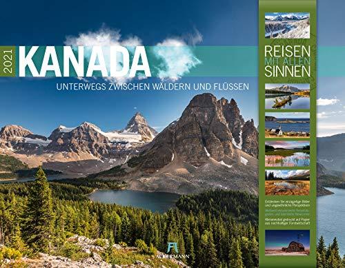 Kanada Kalender 2021, Wandkalender im Querformat (54x42 cm) - Natur- und Reisekalender