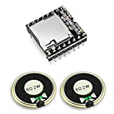 KeeYees Mini MP3 DFPlayer Player Módulo con Altavoz Redonda 2W 8Ohm para DIY Compatible con Arduino