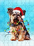 Promini Yorkshire Terrier Christmas Puzzle Awesome Gift, Yorkie Lovers Christmas Gifts, Yorkie in Snow Christmas Jigsaw Puzzle 1000 Piece Jigsaw Puzzles Game Toys Gift , 20' x 30'