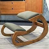 Kniestuhl, Kniestuhl Ergonomisch, Kniehocker Kniestuhl Holz für zu Hause und im Büro, Sitzhocker Con Dickes Kissen für Rückenschmerzen Lindern