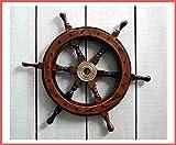 Graf von Gerlitzen Schiff Steuer Rad Steuerrad Maritim Nautik Holz 40 cm. 450B -
