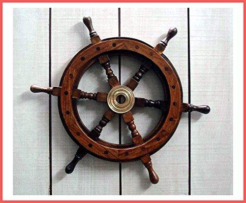 Graf von Gerlitzen Schiff Steuer Rad Steuerrad Maritim Nautik Holz 40 cm. 450B