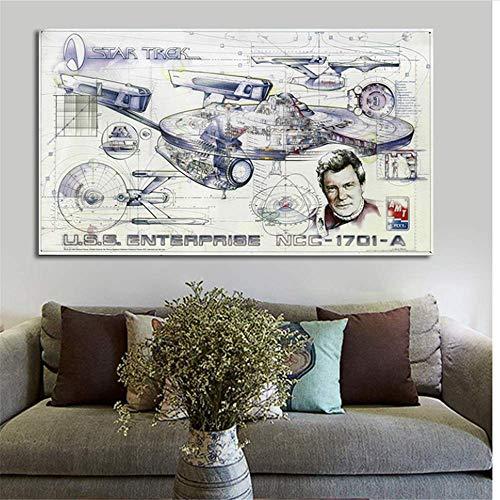 Druck auf leinwand 60x120cm kein Rahmen Star Trek Raumschiff Filmplakat Home Wohnzimmer Schlafzimmer Kunst Wandgemälde Lost In Space Pictures Küche