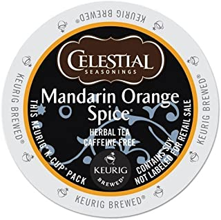 Celestial Seasonings Mandarin Orange Spice, Single Serve Tea K-Cups, 48-Count For Brewers