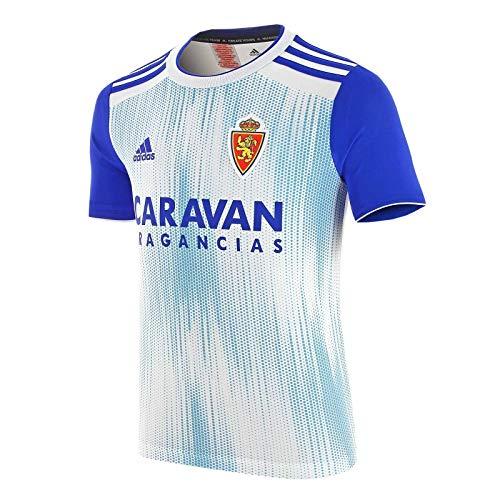 adidas Real Zaragoza Primera Equipación 2019-2020 Niño, Camiseta, White-Light Blue, Talla 164