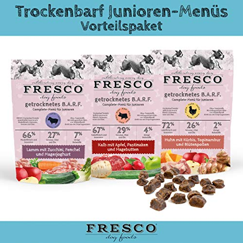 Fresco Dog Trockenbarf Junioren-Menüs Vorteilspaket
