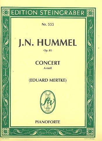 Konzert a-Moll op.85 für Klavier und Orchester : für 2 Klaviere
