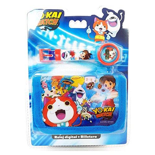 Yo-Kai Watch Kids Digitale Uhr und Geldbörse, 25 cm, Mehrfarbig