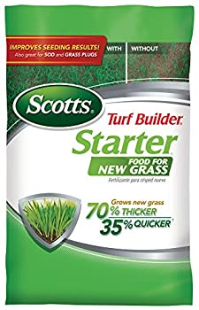 Scotts Turf Builder Starter Food for New Grass 15 lb - Lawn Fertilizer for Newly Planted Grass Also Great for Sod and Grass Plugs - Covers 5,000 sq ft.