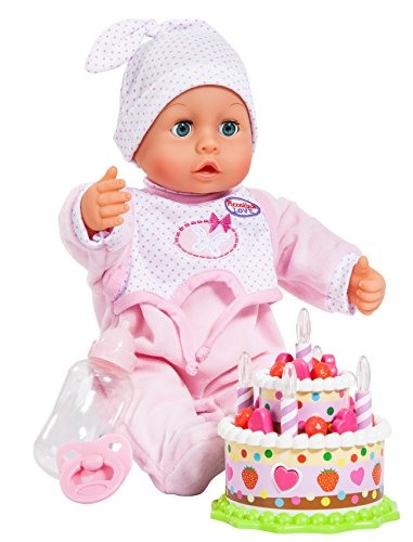 Bayer Design 93885 - Piccolina Puppe, Birthday Set 38 cm